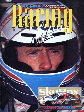 Mark Marin Autographed Beckett Racing Magazine Page