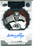 Willie O'Ree Autographed 2018 Upper Deck Premier Magnificent Marks Card