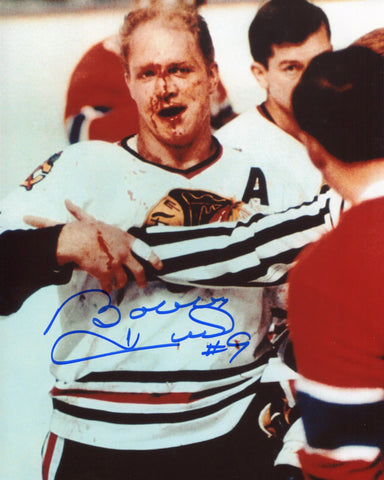 Bobby Hull Autographed / Signed with Bloody Nose 8x10 Photo