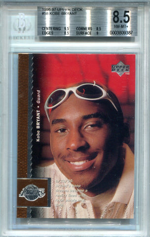 Kobe Bryant 1996-97 Upper Deck Rookie Card (BVG)