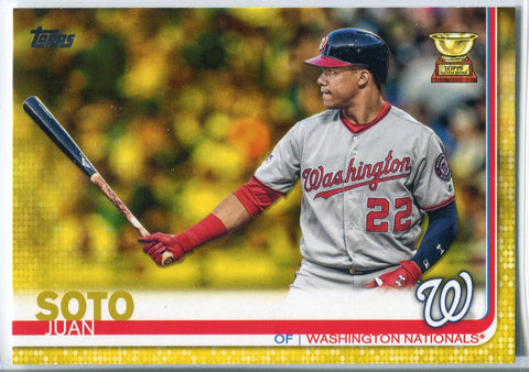 Juan Soto 2019 Topps Series One Yellow Walgreens Exclusive Card