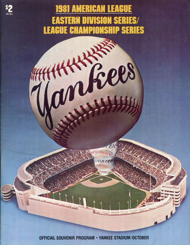 1981 American League Championship Series Program