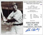 Luke Appling Autographed Hall Of Fame Induction Card