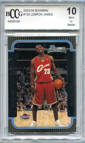 LeBron James 2003-04 Bowman Rookie Card (BCCG)