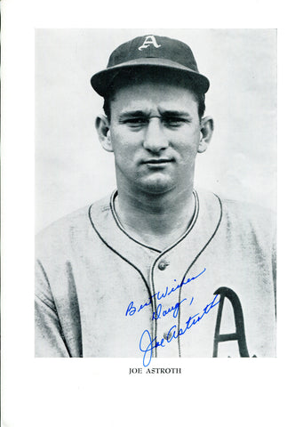 Joe Astroth Autographed 8x10 Photo