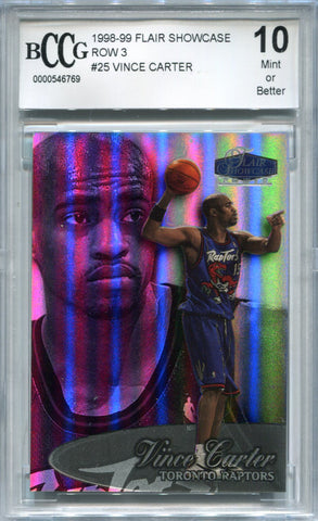 Vince Carter 1998-99 Fleer Flair Showcase Rookie Card (BCCG)
