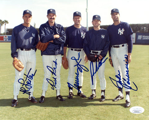 New York Yankees Autographed 8x10 Photo (JSA)