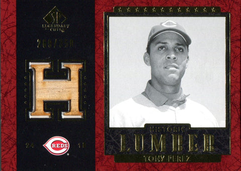 Tony Perez 2003 Upper Deck Legendary Cuts Bat Card