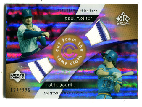 Paul Molitor/ Robin Yount 2005 Upper Deck Reflections #CC-MY Card 152/225