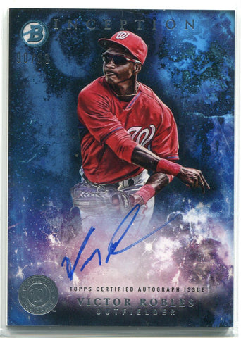 Victor Robles Autographed 2016 Bowman Inception Rookie Card