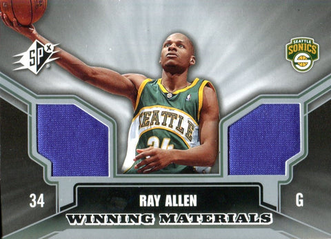 Ray Allen 2005-06 Upper Deck SPx Winning Materials Jersey Card