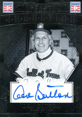 Don Sutton Autographed Panini Card