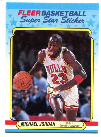 Michael Jordan 1988 Fleer Superstar Sticker