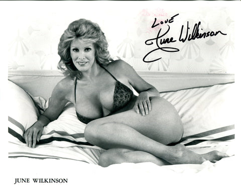June Wilkinson Autographed 8x10 Photo (JSA)