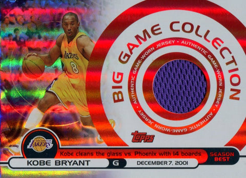 Kobe Bryant 2005 Topps Big Game Collection Jersey Card