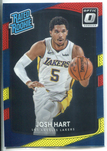 Josh Hart 2017-18 Donruss Optic Red & Yellow Rated Rookie Card