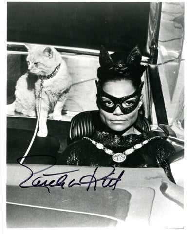 Eartha Kitt Autographed Cat Woman 8x10 Photo