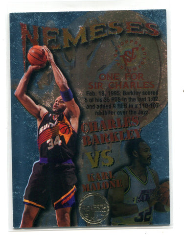 Charles Barkley/Karl Malone Topps Stadium Club Members Only #N5 Card