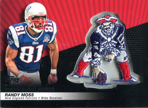 Randy Moss 2010 Topps Throwback Patch Card