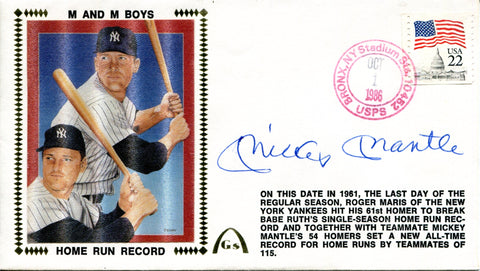 Mickey Mantle Autographed October 1st, 1986 First Day Cover (PSA)