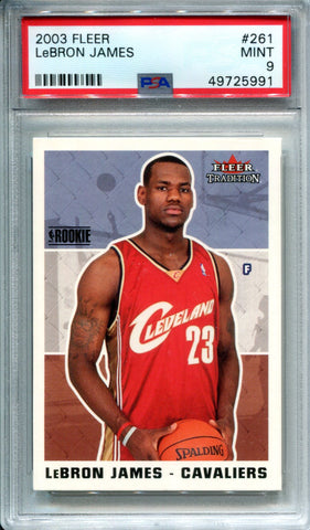 LeBron James 2003 Fleer Tradition Rookie Card (PSA)