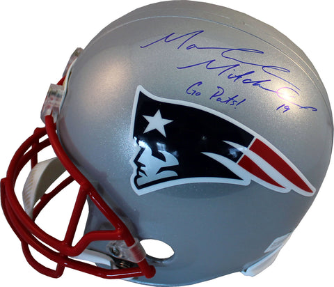 "Malcolm Mitchell ""Go Pats"" Autographed New England Patriots Helmet"