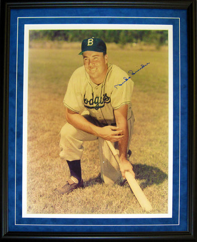 Duke Snider Autographed Framed 16x20 Photo