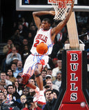 Tyrus Thomas Autographed Chicago Bulls Reverse Dunk 16x20 Photo
