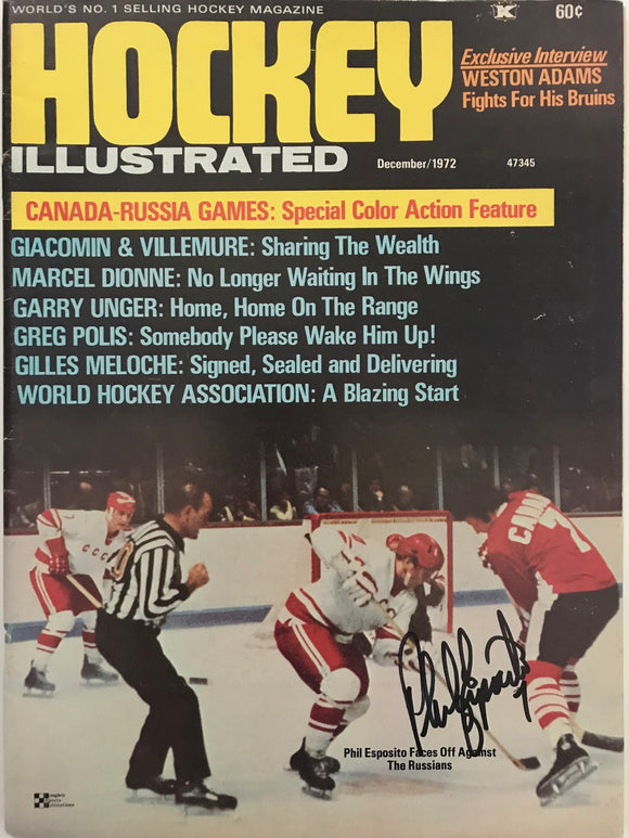 Phil Esposito Signed Hockey Illustrated December 1972