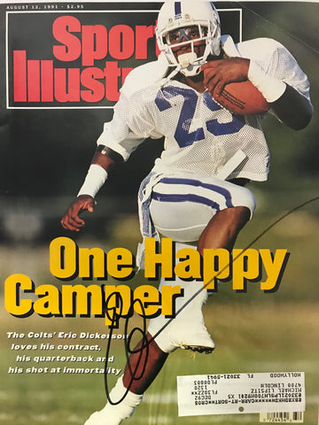 Eric Dickerson Signed Sports Illustrated August 12 1991