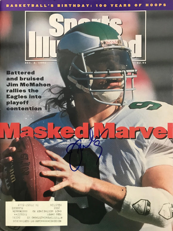 Jim McMahon Signed Sports Illustrated December 2 1991