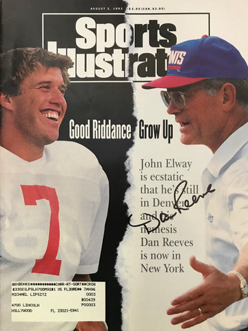 Dan Reeves Signed Sports Illustrated August 2 1993