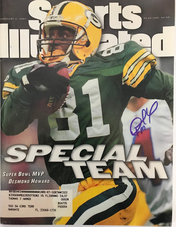 Desmond Howard Signed Sports Illustrated February 3 1997