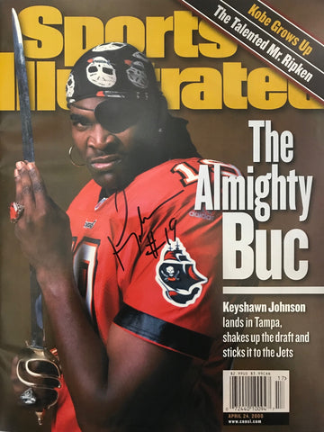 Keyshawn Johnson Signed Sports Illustrated April 24 2000