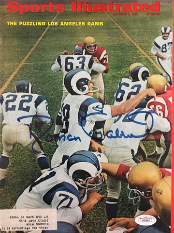Roman Gabriel Signed Sports Illustrated October 3 1966 (JSA)