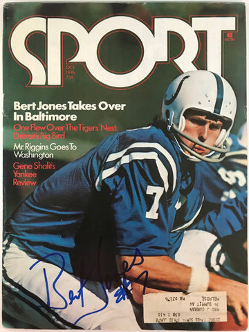 Bert Jones Signed Sport Magazine October 1976