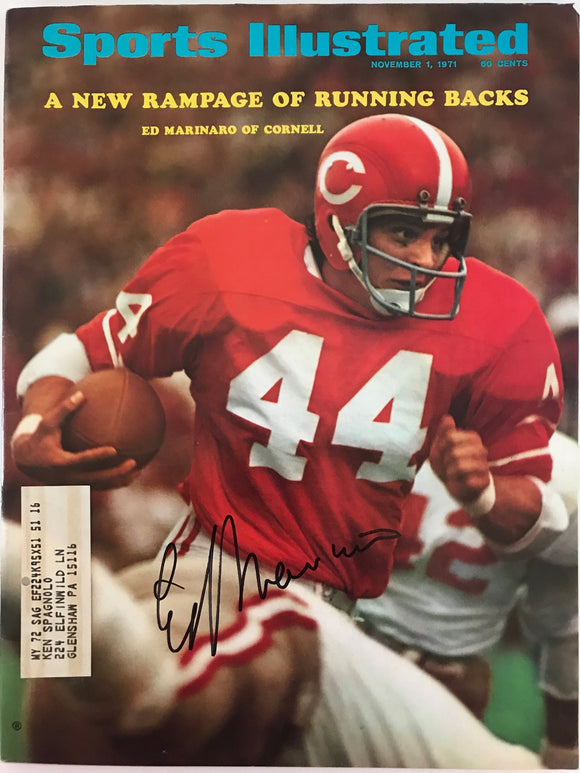 Ed Marinaro Signed Sports Illustrated November 1 1971 (JSA)
