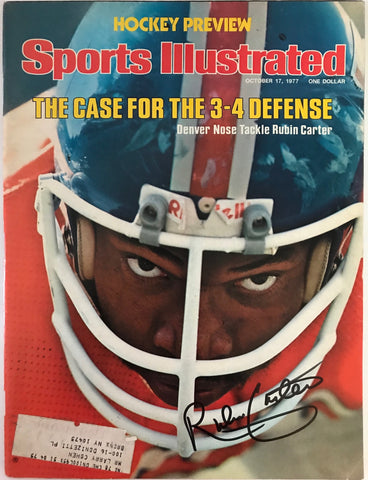 Rubin Carter Signed Sports Illustrated October 17 1977