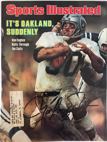 Mark Van Eeghen Signed Sports Illustrated January 2 1978