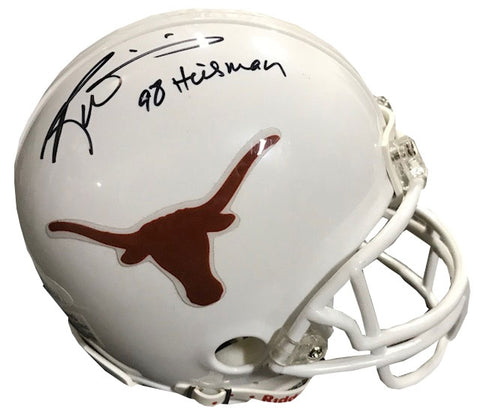 "Ricky Williams ""98 Heisman"" Autographed Texas Longhorns Mini Helmet"