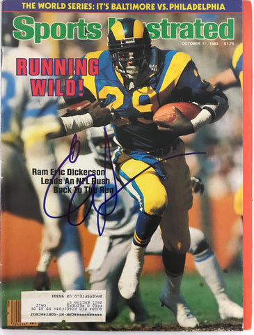 Eric Dickerson Signed Sports Illustrated October 17 1983