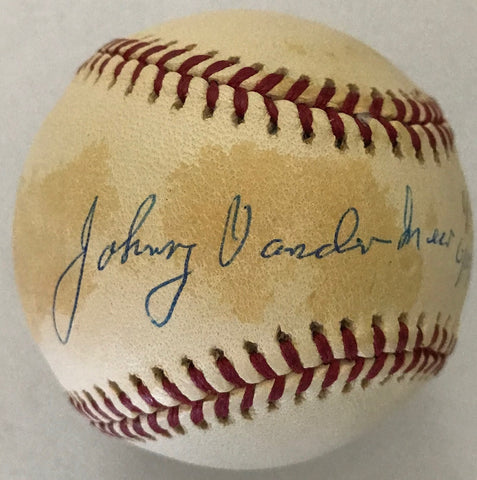 Johnny Vander Meer Autographed Official National League Baseball