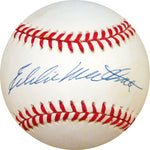 Eddie Mathews Autographed Baseball