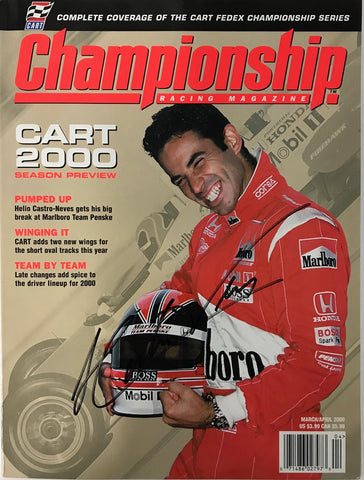 Helio Castroneves Signed Championship Racing Magazine March 2000