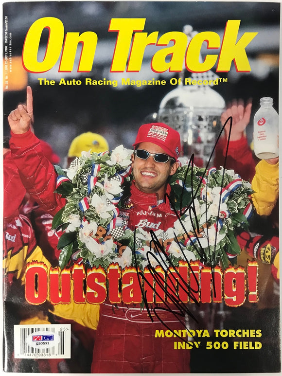 Juan Pablo Montoya Signed On Track Magazine July 5 2000 (PSA)