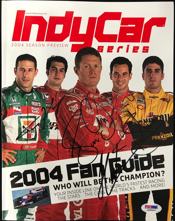 Tony Kanaan Scott Dixon Greg Ray Helio Castroneves Indy Series Program  (PSA)