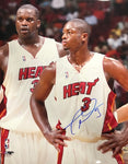 Dwyane Wade Autographed Staring with Shaquille O'Neal 16x20 Photo