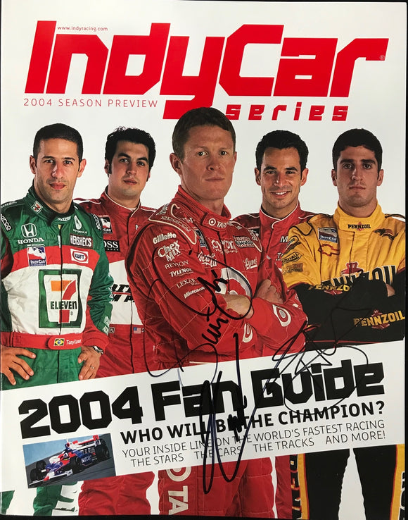Scott Dixon Helio Castroneves Greg Ray Indy Series Program 2004 Season