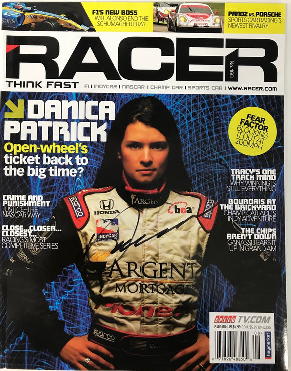 Danica Patrick Signed Racer Magazine August 2005