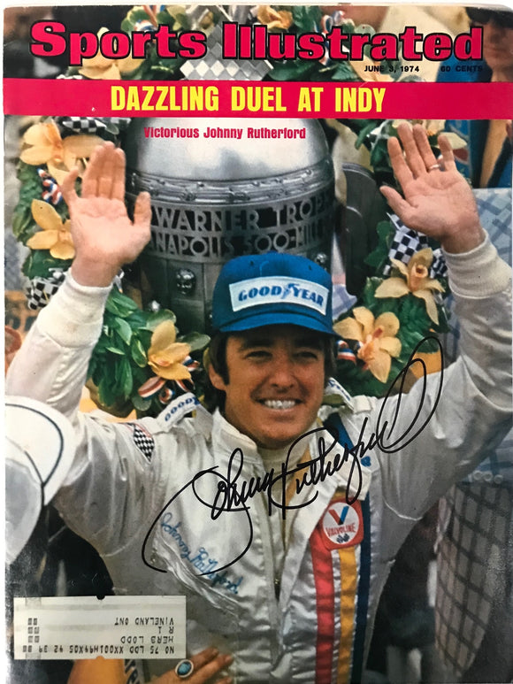 Johnny Rutherford Signed Sports Illustrated Magazine June 3 1974